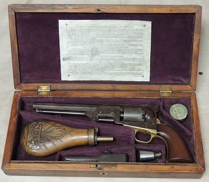 Cased Colt 1851 Navy 4th Model .36 Caliber Percussion Revolver S